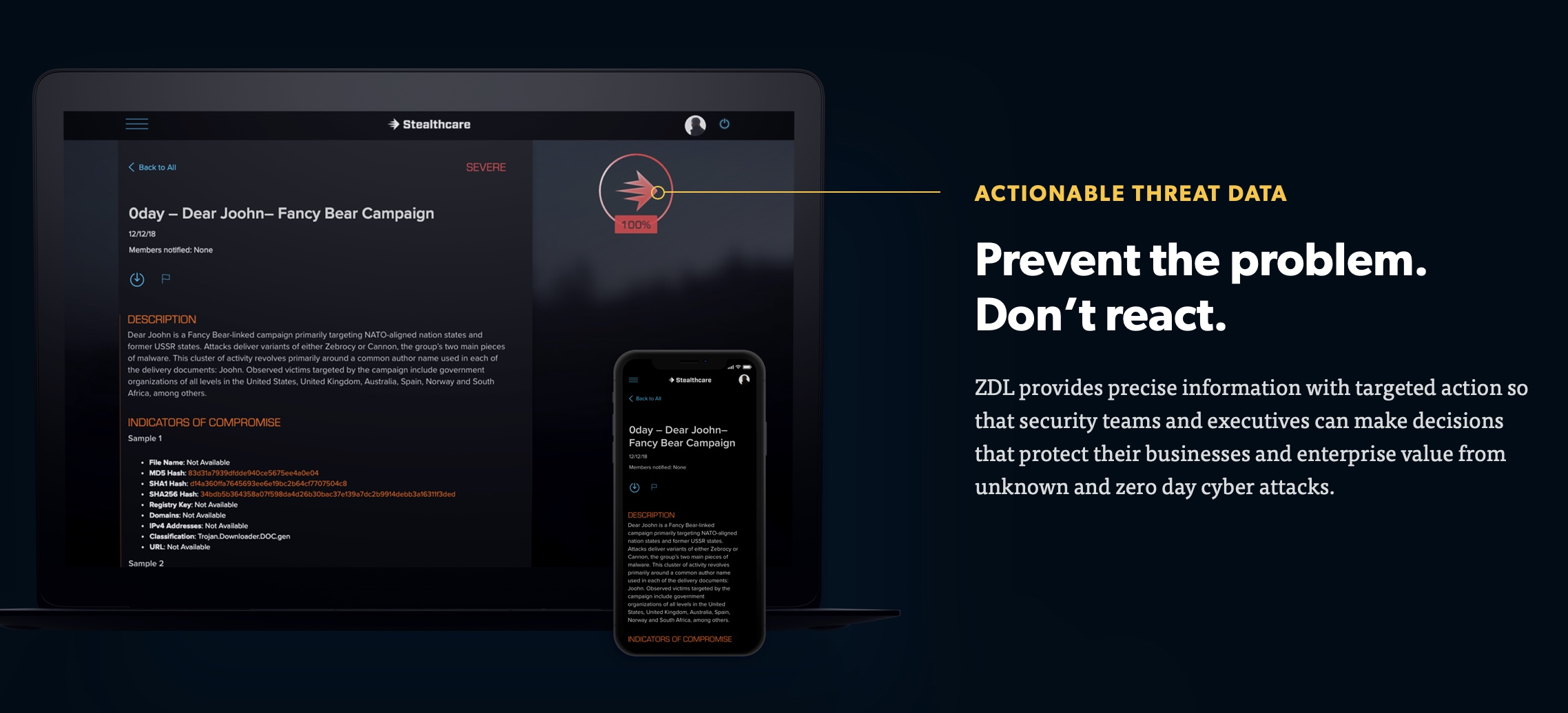 Stealthcare launches new Website to showcase Zero Day Live threat